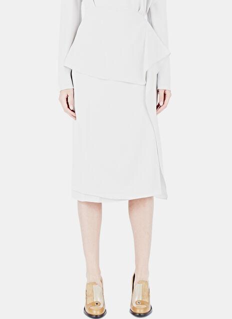 Crepe Wave Draped Skirt