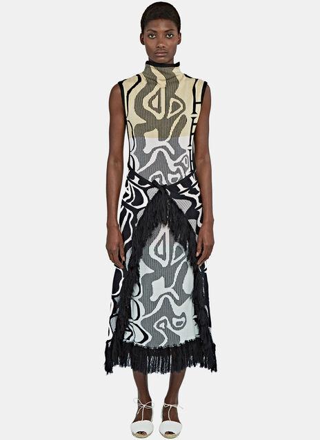 Fringed Wrap Dress