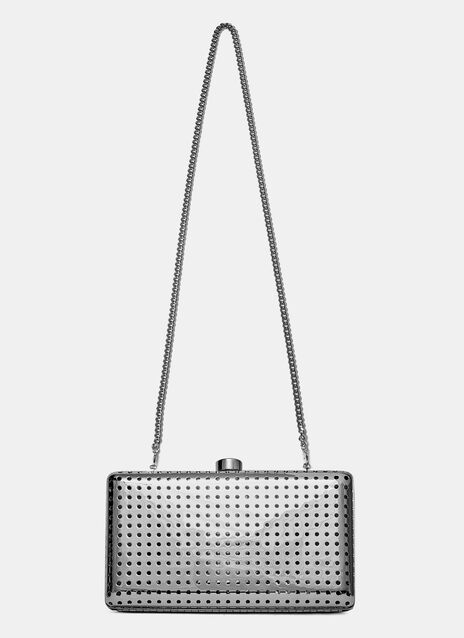 Perforated Metal Clutch Bag