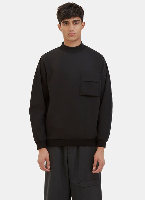 Flight Quilted Sleeve Mock Neck Sweater
