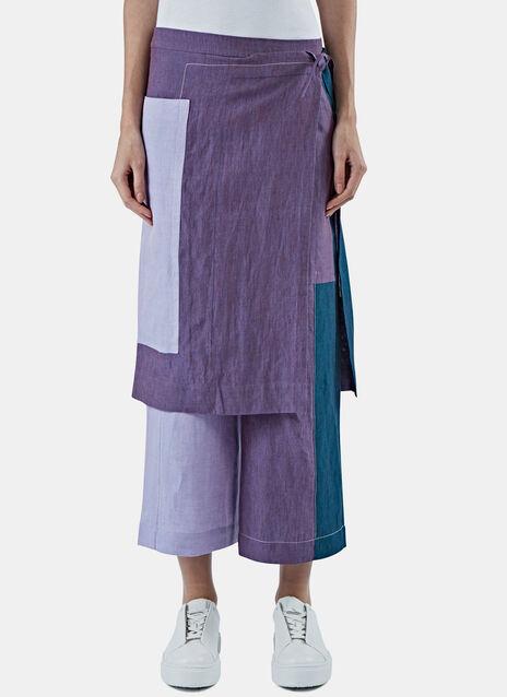 Oba Li Patchwork Sarong Pants