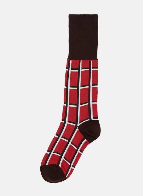 Checked Jacquard Socks