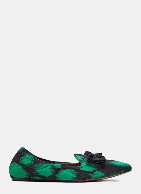 Jacquard Bow Slipper Shoe