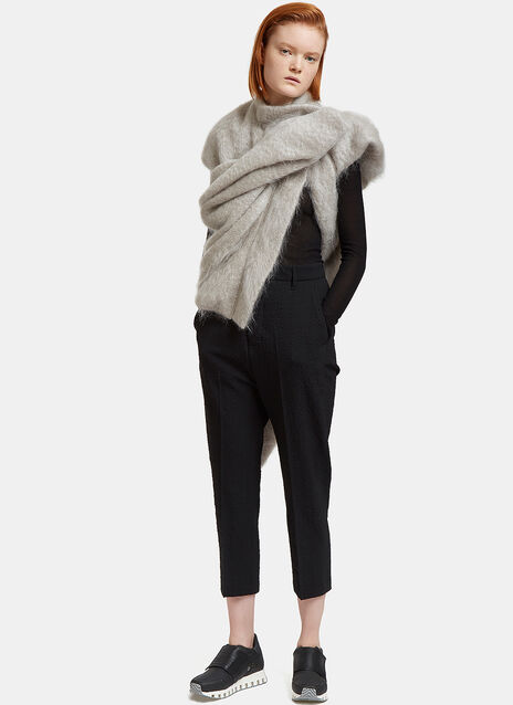 Grotto Mohair Knit Draped Jacket
