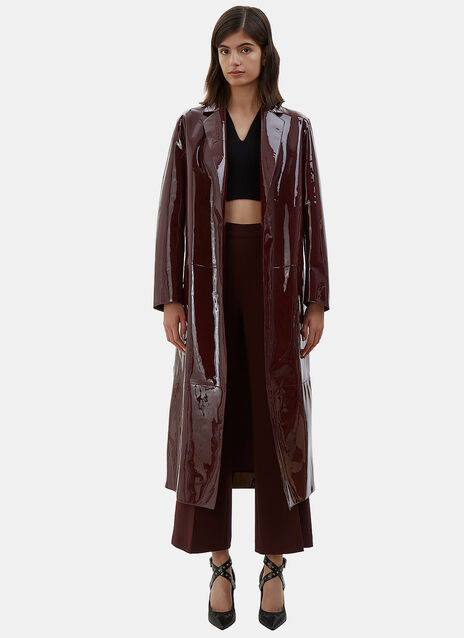 Long Patent Leather Coat