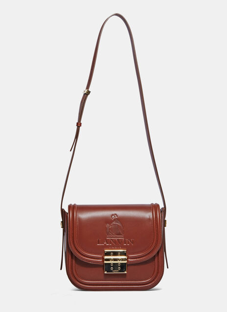 LaLa Embossed Logo Medium Satchel Bag