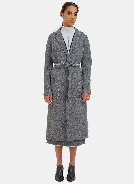 White Noise Overlocked Seam Trench Coat