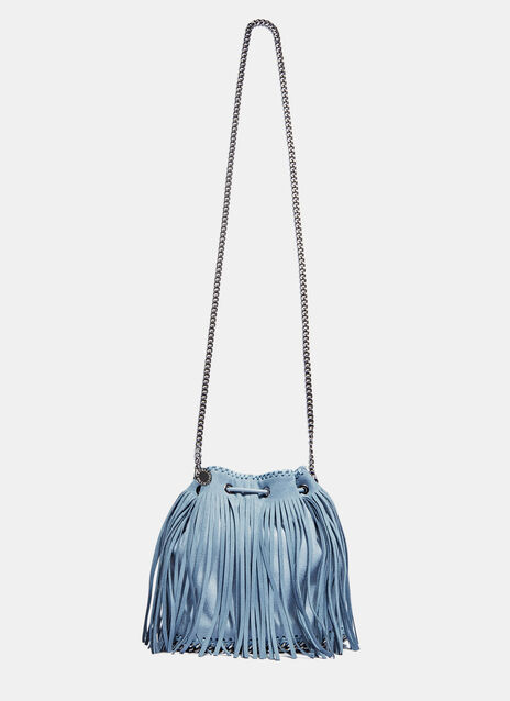 Falabella Small Fringed Bucket Bag
