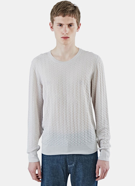 Embossed Stitch Crew Neck Sweater