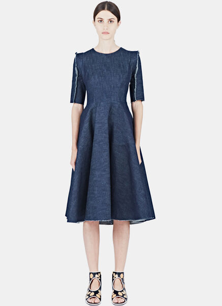 Image of Alexa Stark Dark Denim Dress
