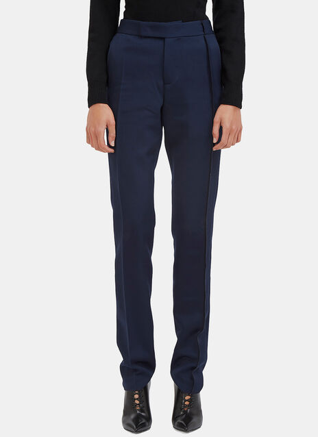 Slim Leg Serge Stitched Tailored Pants