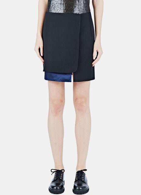 Satin Panel Miniskirt