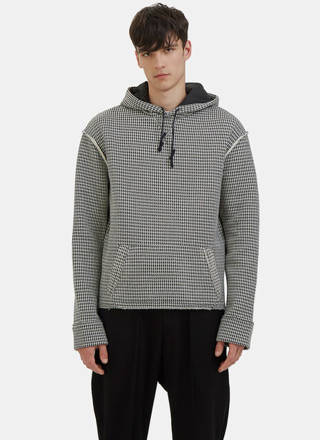 Houndstooth Hooded Sweater