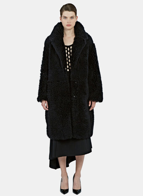 Oversized Reversible Lamb Shearling Coat