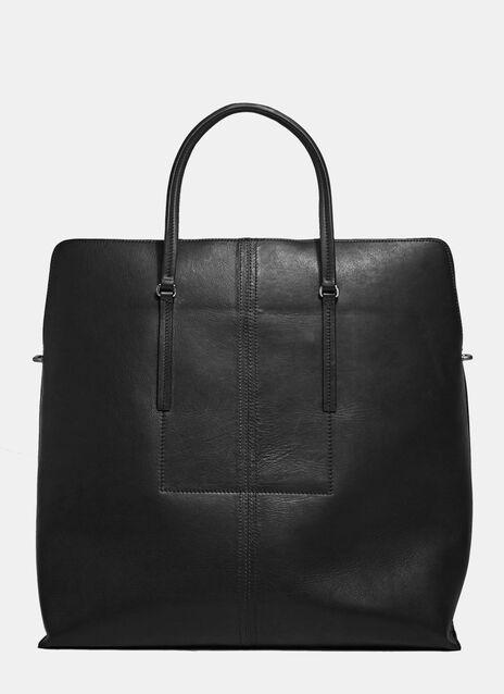 Leather Jumbo Square Bag