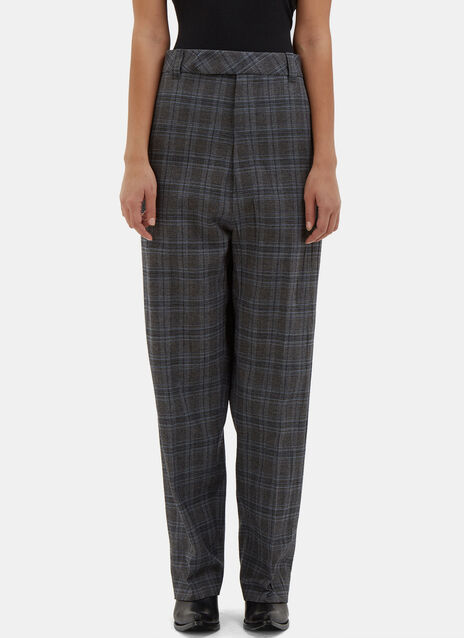 Oversized Checked Pants