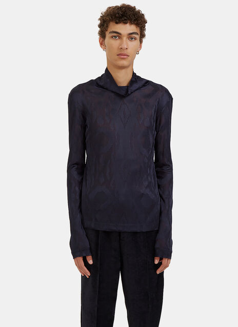 Roll Neck Dolce Vita Macula Jacquard Sweater