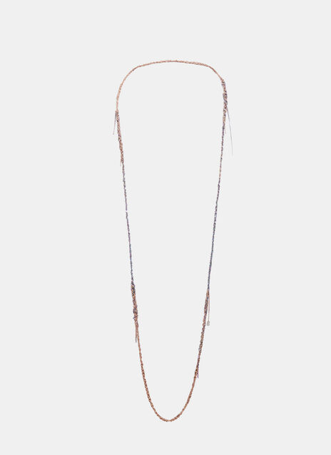 4-Tone Simple Rose Gold and Spectrum Necklace