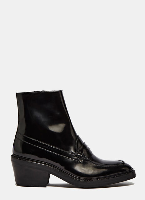Penny Loafer Ankle Boots