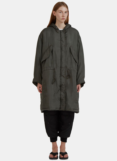 Silk Padded Parka Coat