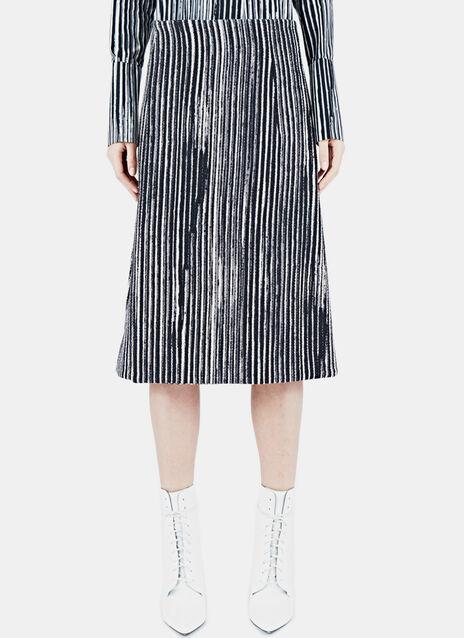 Striped Bonded Wool Skirt