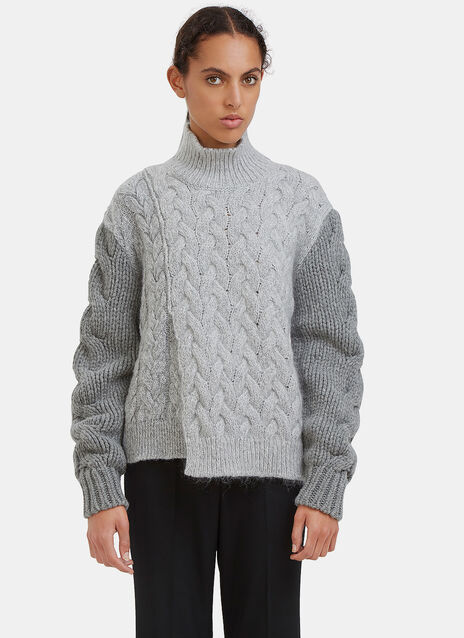 Chunky Stitched Roll Neck Sweater