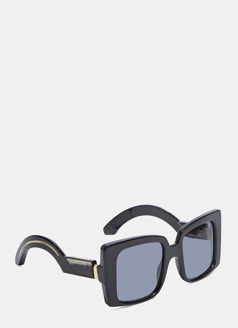 JACQUES MARIE MAGE LIANE SUNGLASSES IN BLACK