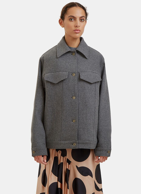 Oversized Felted Wool Jacket