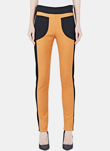 Two-Tone Panel Leggings 11