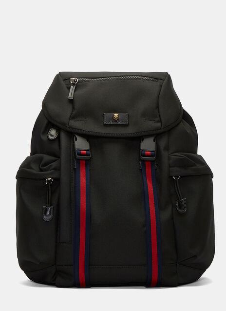 Zaino Striped Webbing Strapped Backpack