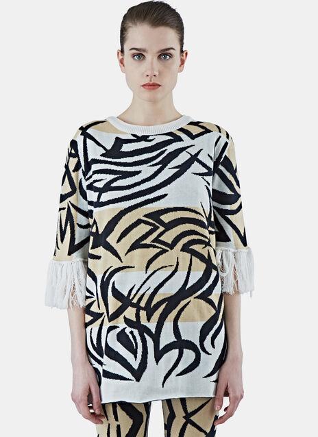 Tribai Fringed Sleeve Sweater
