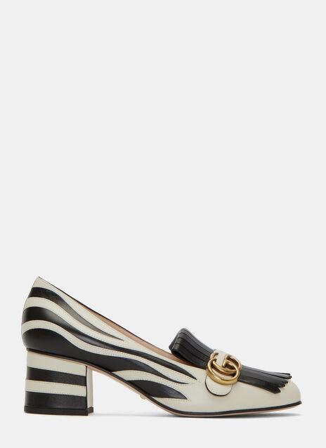 Heeled Zebra Loafers