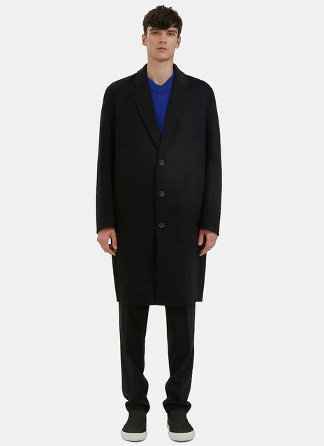 Charles Long Single-Breasted Wool Coat