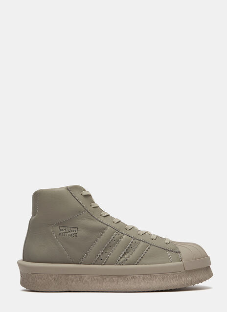 x adidas Mastodon Pro High-Top Leather Sneakers
