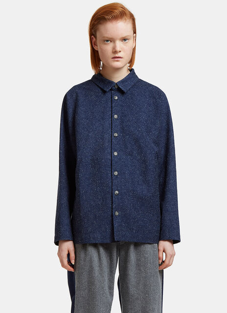 Oversized Flecked Worker Shirt