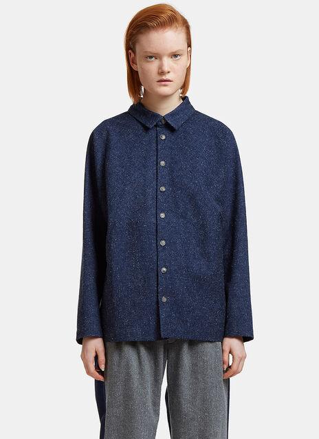 Oversized Flecked Worker Shirt