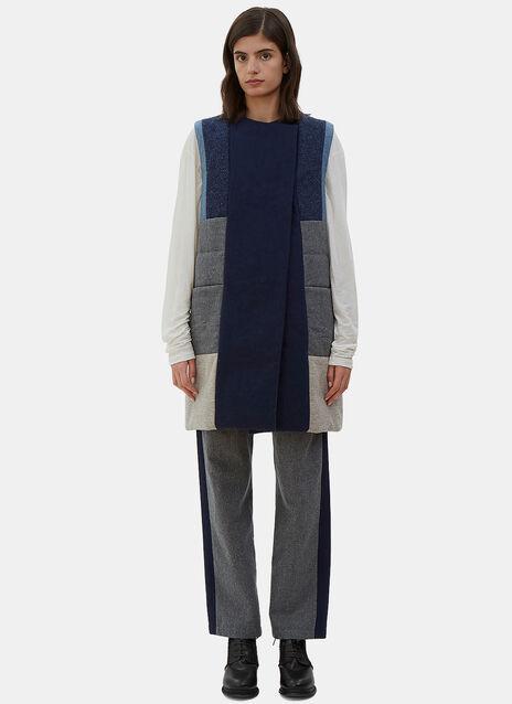 Quilted Denim Patchwork Vest Dress
