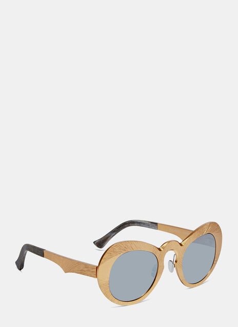 0055 Sanjuro Metallic Sunglasses