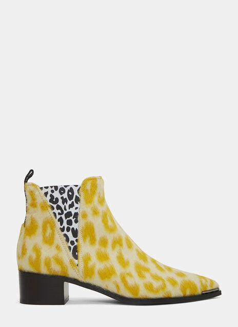 Jensen Leopard Print Ankle Boots