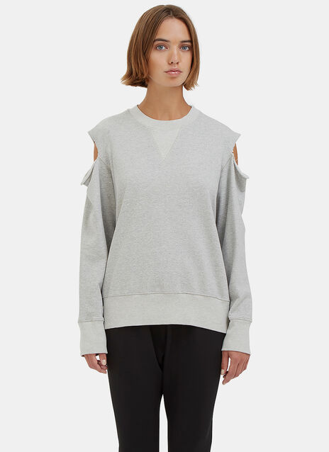 Bassike Fleece Cutout Sweat