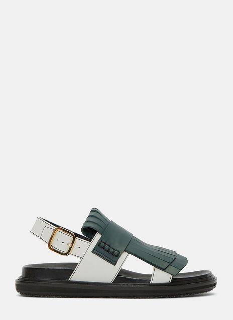 Fringed Strap Sandals