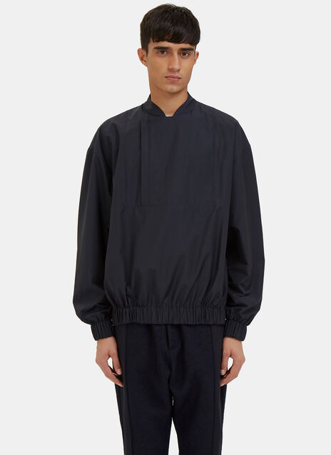 Technical Mao Collared Track Top