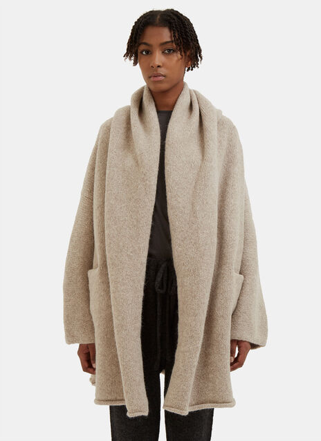 Oversized Knitted Capote Coat