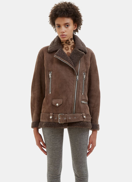 More She Sue Oversized Shearling Jacket