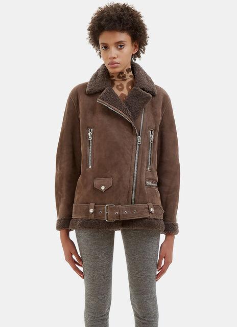 More She Sue Oversized Shearling Jacket