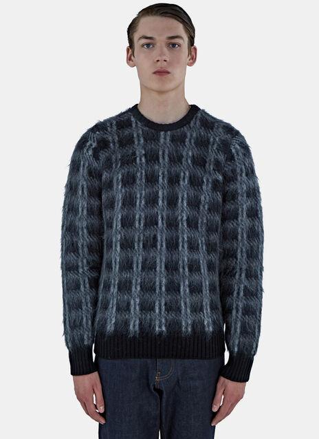 Tartan Mohair Knit Sweater