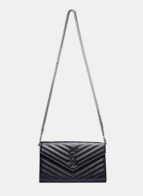 YSL Monogrammed Wallet Bag