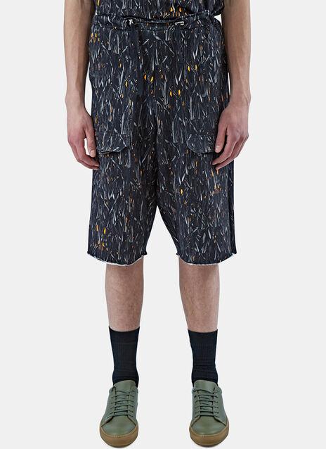 Long Printed Cargo Shorts