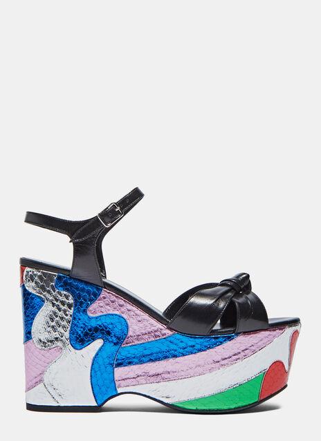 Candy Wedge Metallic Sandals