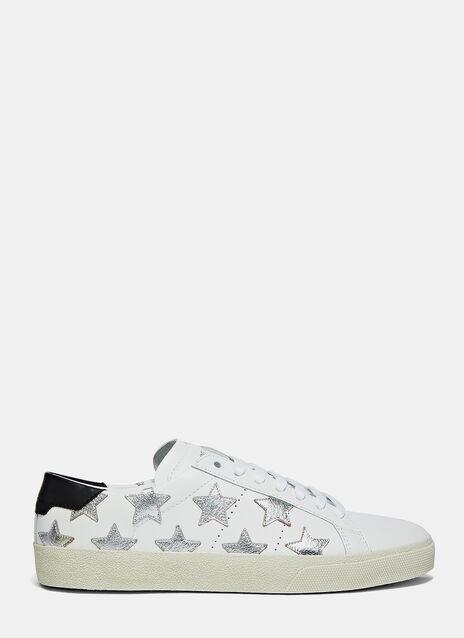 Metallic Star Low-Top Sneakers
